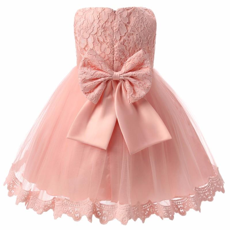 Dos Nu Des Enfants Bébé Longue Robe Fille 6 Couleur Manche Sleeveless 6m Pink Us Dentelle Américaine Kid Cérémonie Size Blanche Ou Taille tCrdxshQ