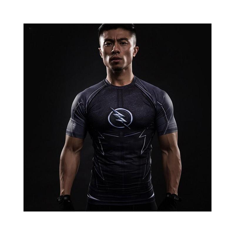 T-shirt fitness compression homme Manches courtes 3D Taille adulte Taille  unique Couleur 3 accdb3d3a69