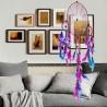 Grande Attrape-rêve arc-en-ciel, véritable plumes, fait mains, deux models au choix
