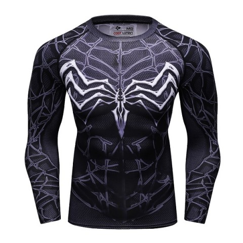 T-shirt 3D compression manches longues Héro-marvel-spiderman-Batman