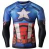 Captain America Superhero Men's Long Sleeve Compression T-Shirt
