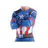 T-shirt compression Homme Captain America,bleu-multicouleur, manches longues