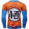 Dragon Ball Z Son Goku heren compressie t-shirt, blauw-oranje, lange mouwen