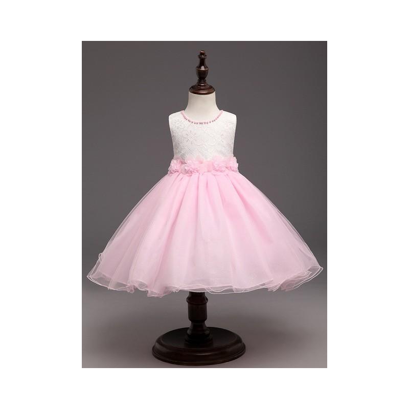 code promo 3d85f dae5f Robes Pour Les Mariages Enfants Princesse Fille de Soirée Couleur pink  Taille américaine des enfants 3T